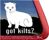 Scottish Fold Scottish Kilt Cat Kitty Kitten Window Decal