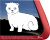 Custom Scottish Fold Scottish Kilt Window Decal