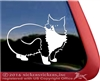 Custom Black and White Tuxedo Cat Vinyl Car Truck RV Window Decal Sticker