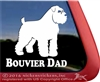 Bouvier Dad Bouvier des Flandres Dog Car Truck RV Window Decal Sticker