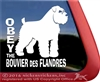 Obey the Bouvier des Flandres Dog Car Truck RV Window Decal Sticker
