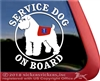 Bouvier des Flandres Service Dog Car Truck RV Window Decal Sticker