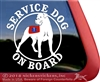 Service Dog Cane Corso Car Truck RV Window Decal Sticker