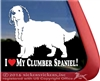 Clumber Spaniel Gun Dog Car Truck RV Window Decal Sticker