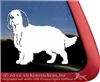 Custom Clumber Spaniel Dog Car Truck RV Window Decal Sticker