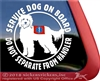 Cobber Dog Service Dog Car Truck RV Window iPad Decal Sticker