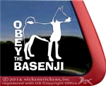 Basenji Window Decal