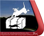 Custom Rhodesian Ridgeback Barn Hunt Dog Window Decal Sticker