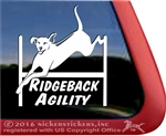 Rhodesian Ridgeback Agility Dog Window Decal Sticker
