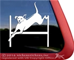 Custom Agility Rhodesian Ridgeback Dog Window Decal Sticker