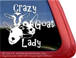 Crazy Goat Lady Nigerian Dwarf Goats Car Truck RV Window Decal