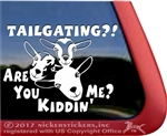 Tailgating Nigerian Dwarf Goats Car Truck RV Window Decal