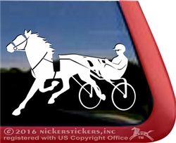 Custom Standardbred Horse Trailer Car Truck RV Window Decal Sticker