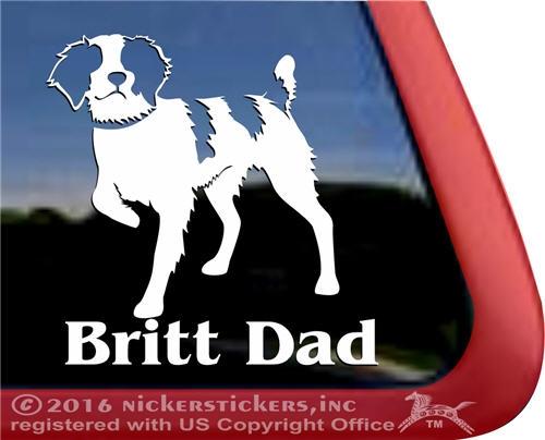 BRETON Car Sticker French Brittany Spaniel Dog Window Sign Decal Gift Pet V02