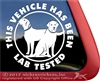Lab Tested Labrador Retriever Dog iPad Car Window Decal Sticker
