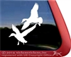Flying Ducks Dog Gun Dog Truck Car RV Window Decal Sticker