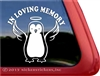 Memorial Penguin Angel Window Decal