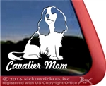 Cavalier Cavalier King Charles Spaniel Dog Car Truck RV Window Decal Sticker