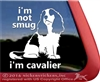 Cavalier King Charles Spaniel Window Decal