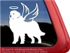 Custom Memorial Great Pyrenees Dog Angel Car Truck RV Window Decal Sticker