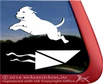 American Pit Bull Terrier Dock Dog Car Truck RV Window Decal Sticker