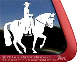 Custom Western Dressage Equestrian Horse Trailer Window Decal Sticker