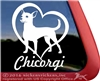 Chicorgi Dog iPad Car Truck RV Window Decal Sticker