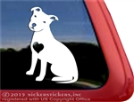 American Pit Bull Terrier Heart Car Truck RV Window Decal Sticker