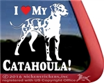 Catahoula Leopard Dog Vinyl Window Decal