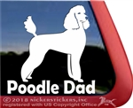 Standard Poodle Dad Dog iPad Car Truck Window Decal Sticker