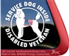 Service Dog Poodle Service Car Truck RV iPad Window Decal Sticker