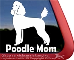 Standard Poodle Mom Dog iPad Car Truck Window Decal Sticker