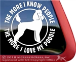 Standard Poodle Dog iPad Car Truck Window Decal Sticker