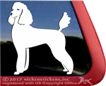 Custom Standard Poodle Dog iPad Car Truck Window Decal Sticker