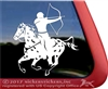 Mounted Archery Leopard Appaloosa Horse Trailer Window Decal
