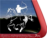 Mounted Archery Blanket Appaloosa Horse Trailer Window Decal