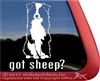 Got Sheep? Aussie Australian Shepherd Dog Car Truck RV Window Decal Sticker