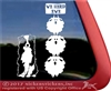 We Herd Ewe  Australian Shepherd Herding Vinyl Dog Car Truck RV Window Decal Sticker