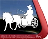 Carriage Pony Driving Horse Trailer Window Decal