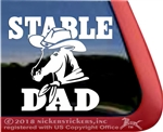 Stable Dad Cowboy Hat Horse Trailer Window Decal