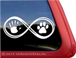 Infinity Paw and Hand Dog Car Truck RV Window Decal Sticker