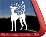 Italian Greyhound Angel Memorial Dog YETI iPad Laptop Car Truck RV Window Decal sticker