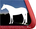 Custom Quarter Horse Trailer Window Decal
