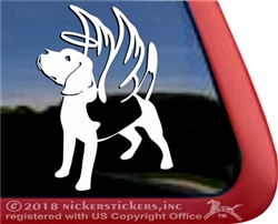 Custom Beagle Angel Memorial Dog Car Truck RV Window Decal Sticker