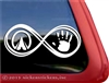 Equestrian Infinity Horse Hoof and Hand Horse Trailer Car Truck RV Window Decal Sticker