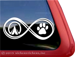 Infinity Horse Hoof Dog Paw Horse Trailer Car Truck RV Window Decal Sticker