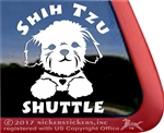 Shih Tzu Shuttle Dog Car Truck RV Window Decal Stickers
