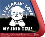 Shih Tzu Dog Car Truck RV Window Decal Stickers