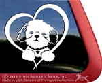 Custom Shih Tzu Puppy Vinyl Window Decal