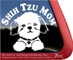 Shih Tzu Mom Dog Car Truck RV Window Decal Stickers